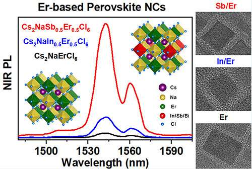 Lead-free rare-earth-based double perovskite nanocrystals with near-infrared emission